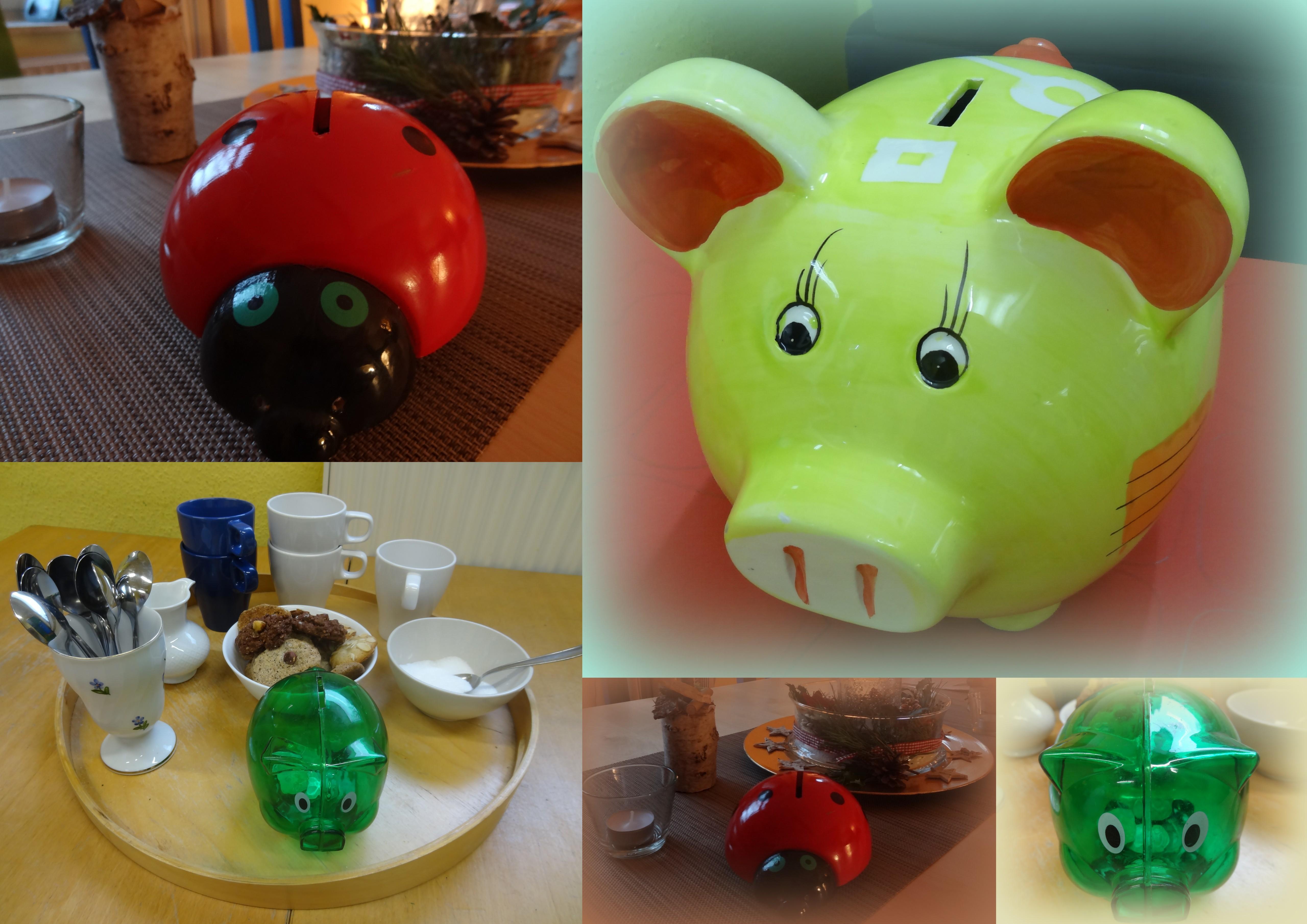 Schweinchen-Collage